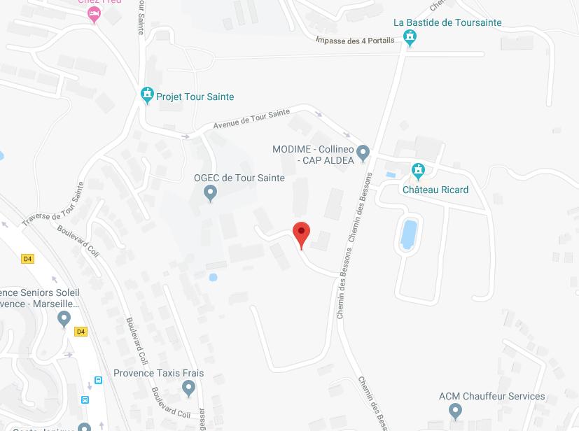 APPT DE TYPE 4 AU RDC DE 86 M2 AVEC 2 GARAGES EN SOUS SOL À MARSEILLE (13014)