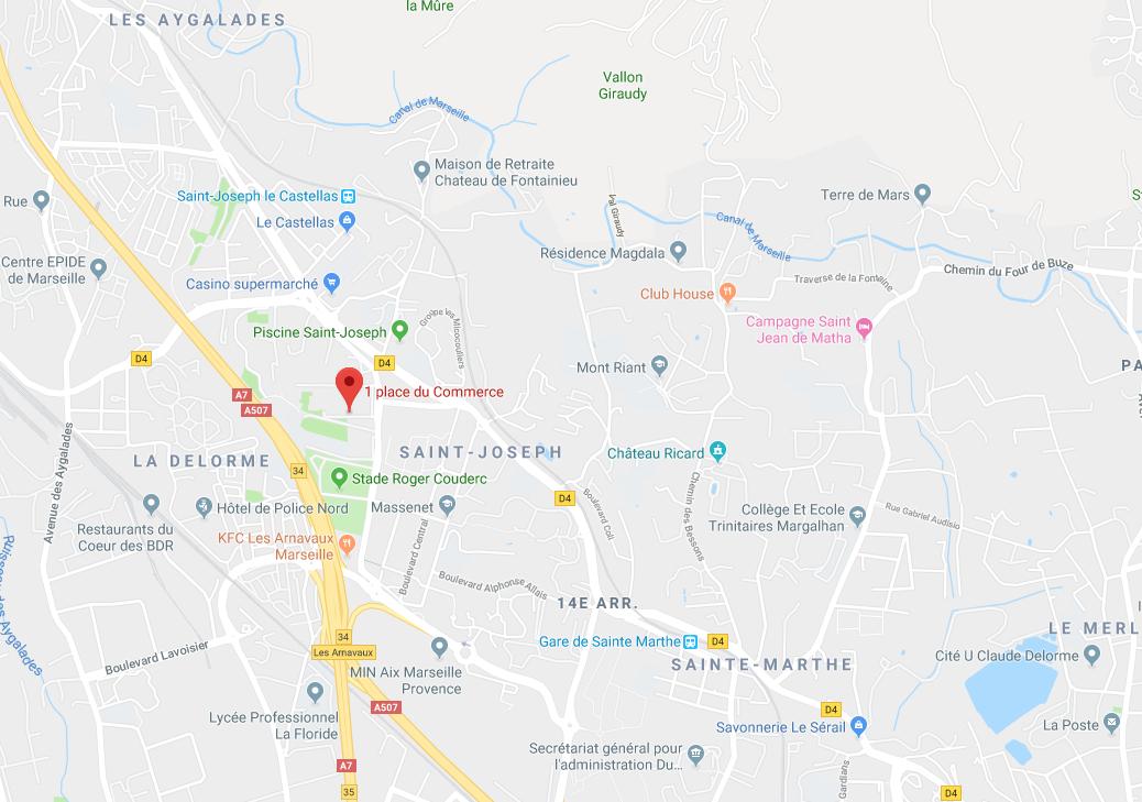 LOCAL COMMERCIAL DE 43,15 M2 AU RDC À MARSEILLE (13015)
