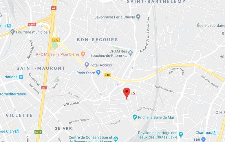 APPT AU 1ER ETAGE DE 50,46 M2 ET UNE CAVE  À MARSEILLE (13003)